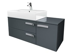 - Single wall-mounted vanity unit with drawers STRADA - K2458 - Ideal Standard Italia