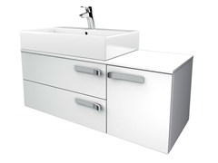 - Single wall-mounted vanity unit with drawers STRADA - K2727 - Ideal Standard Italia