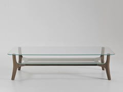 - Rectangular glass coffee table with integrated magazine rack SAVILE ROW | Rectangular coffee table - i 4 Mariani
