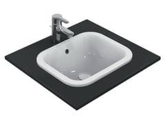 - Inset rectangular washbasin CONNECT 42 x 35 cm - E5055 - Ideal Standard Italia