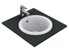 - Inset round washbasin CONNECT 38 x 38 cm - E5051 - Ideal Standard Italia