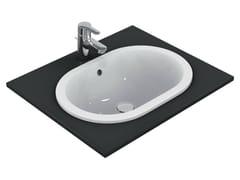 - Inset oval washbasin CONNECT 55 x 38 cm - E5047 - Ideal Standard Italia