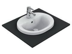 - Inset oval washbasin CONNECT 48 x 40 cm - E5038 - Ideal Standard Italia