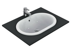 - Inset oval washbasin CONNECT 62 x 41 cm - E5049 - Ideal Standard Italia