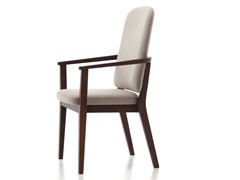- Contemporary style stackable wooden guest chair with armrests CHELSEA 22 - Very Wood