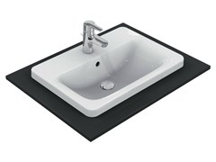 - Inset rectangular single washbasin CONNECT 58 x 42 cm - E5044 - Ideal Standard Italia
