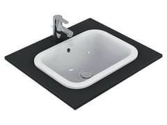 - Inset rectangular washbasin CONNECT 50 x 38 cm - E5057 - Ideal Standard Italia