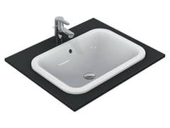 - Inset rectangular washbasin CONNECT 58 x 41 cm - E5059 - Ideal Standard Italia