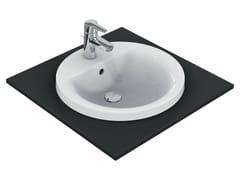 - Inset round washbasin CONNECT 48 x 48 cm - E5042 - Ideal Standard Italia