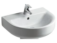 - Single wall-mounted washbasin CONNECT 70 x 46 cm - E7740 - Ideal Standard Italia