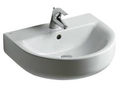 - Single wall-mounted washbasin CONNECT 55 x 45,5 cm - E7131 - Ideal Standard Italia