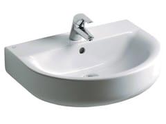 - Single wall-mounted washbasin CONNECT 60 x 46 cm - E7135 - Ideal Standard Italia