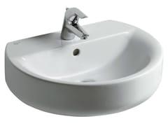 - Single wall-mounted washbasin CONNECT 55 x 45,5 cm - E7147 - Ideal Standard Italia