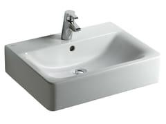 - Rectangular single wall-mounted washbasin CONNECT 60 x 46 cm - E7141 - Ideal Standard Italia