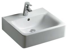- Rectangular single wall-mounted washbasin CONNECT 50 x 46 cm - E7138 - Ideal Standard Italia