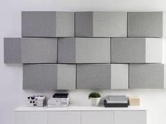 - Fabric decorative acoustical panels TRILINE WALL - Abstracta