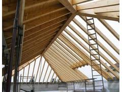 Sistemi per tetti a falde senza capriateGIUNTI A TRE VIE, TRAVI A GINOCCHIO - CENCI LEGNO
