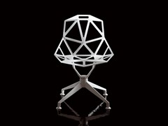 - Trestle-based die cast aluminium chair CHAIR_ONE_4STAR - Magis