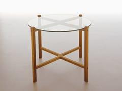 - Tavolino basso pieghevole rotondo in vetro KASKAD - Karl Andersson & Söner