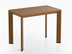 - Lacquered rectangular wood veneer table CHAMFER | Rectangular table - Karl Andersson & Söner