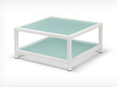 - Square garden side table BARCELONA | Square coffee table - Dedon