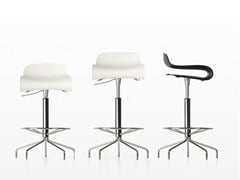 - Swivel height-adjustable stool BCN | High stool - Kristalia