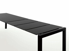 - Extending Alucompact® table SUSHI | Aluminium table - Kristalia