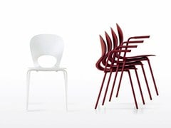 - Stackable chair with armrests PIKAIA - Kristalia