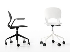- Chair with 5-spoke base with casters PIKAIA | Chair with 5-spoke base - Kristalia