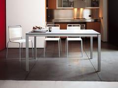 - Extending laminate table EASY | Steel table - Kristalia
