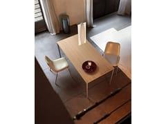 - Extending wood veneer table EASY | Wood veneer table - Kristalia