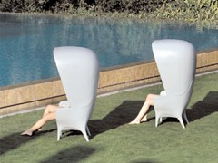 - High-back polyethylene garden armchair SHOWTIME | Garden armchair - BD Barcelona Design