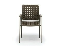 - Stackable fabric garden chair with armrests NIZZA   Chair with armrests - FISCHER MÖBEL