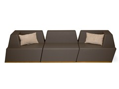 - 3 seater foam garden sofa UNIVERS | 3 seater sofa - FISCHER MÖBEL