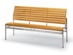 - Teak garden bench LA PIAZZA | Garden bench - FISCHER MÖBEL