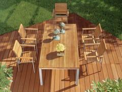 - Rectangular teak garden table LA PIAZZA | Rectangular table - FISCHER MÖBEL