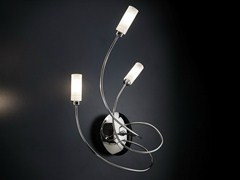 - Chrome plated wall lamp with swing arm FREE SPIRIT | Wall lamp - Metal Lux di Baccega R. & C.