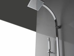 - Shower panel with hand shower with overhead shower SOLAR | Shower panel - Graff Europe West