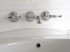- 3 hole wall-mounted washbasin tap LAUREN | 3 hole washbasin tap - Graff Europe West