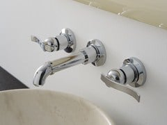- 3 hole wall-mounted washbasin tap BALI | Wall-mounted washbasin tap - Graff Europe West