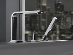 - 4 hole bathtub set with hand shower TARGA | Bathtub set - Graff Europe West