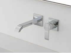 - 2 hole wall-mounted washbasin tap QUBIC | Wall-mounted washbasin tap - Graff Europe West