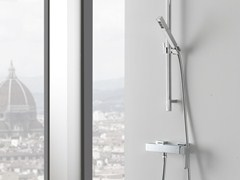- Shower wallbar with hand shower with mixer tap QUBIC | Shower wallbar - Graff Europe West