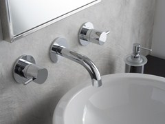 - 3 hole wall-mounted washbasin tap M.E. | Wall-mounted washbasin tap - Graff Europe West