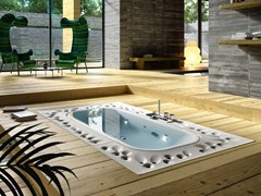 - Overflow built-in hot tub ARIMA | Built-in hot tub - Glass 1989