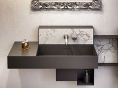 - Wall-mounted steel vanity unit OSMOS | Vanity unit - Glass 1989