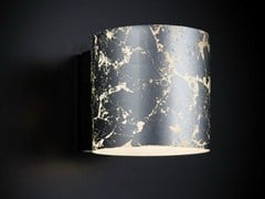 - Silver leaf wall light BRICK | Wall light - Metal Lux di Baccega R. & C.