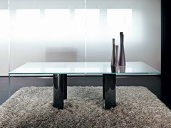 - Rectangular glass table PARTY | Rectangular table - SOVET ITALIA