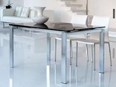 - Contemporary style extending rectangular glass dining table BRISTOL - ITALY DREAM DESIGN - Kallisté