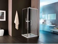 - Corner shower cabin with hinged door VIS | Shower cabin with hinged door - Samo
